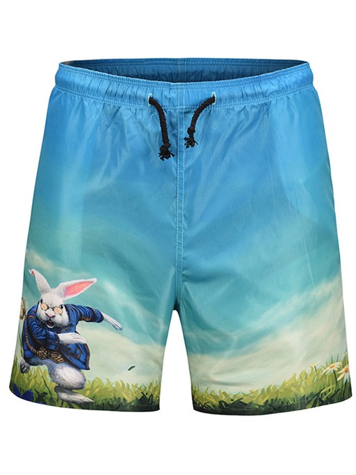 Cartoon Loose Men's Beach Shorts