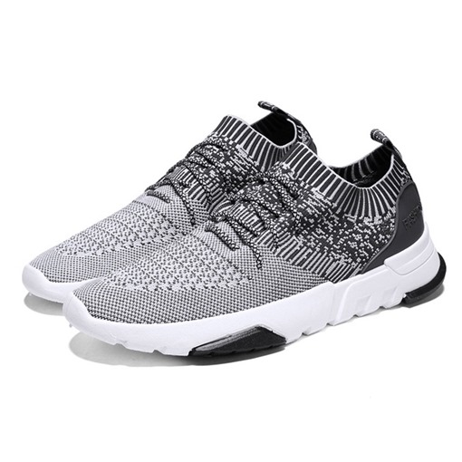 Round Toe Mesh Lace-Up Casual Men's Sneaker