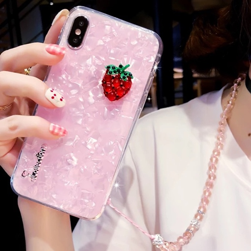 IPhone X/8/7plus Summer Strawberry Pineapple Phone Case Silicone
