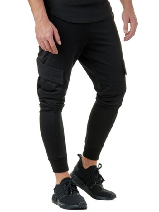 Slim Cotton Sports Men's Casual Pants