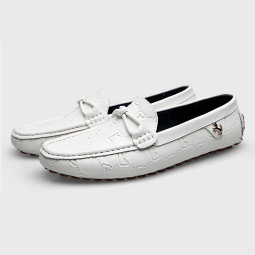 PU Leather Round Toe Low-Cut Upper Men's Loafers