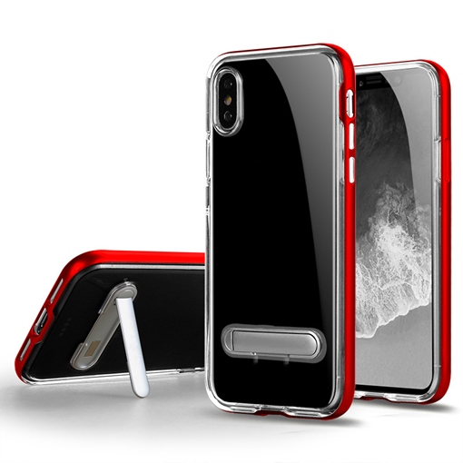 New Iphone X/7/8 Transparent Mobile Shell with Stand