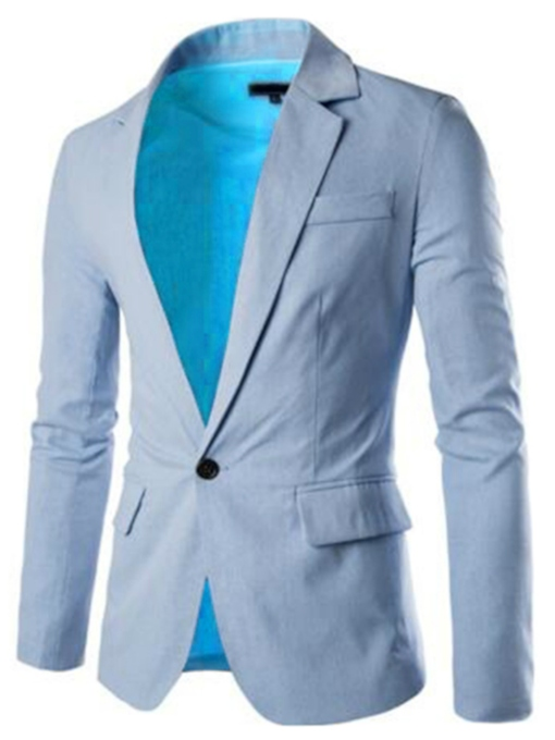 Square Neck Casual One Button Slim Men's Blazer