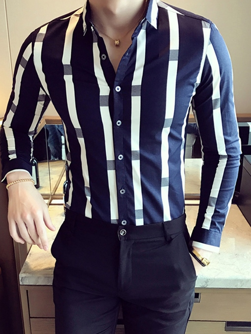 Men's Cotton Slim Shirt - Striped