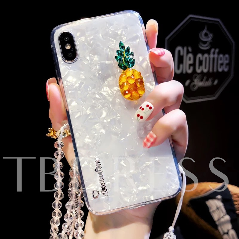 iphone x / 8 / 7plus Sommer Erdbeere Ananas Telefon Fall Silikon