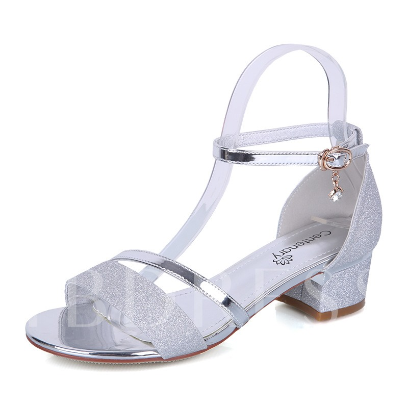 Buy Heel Covering Block Heel Elegant Women's Sandals, Spring,Summer, 13305020 for $43.51 in TBDress store