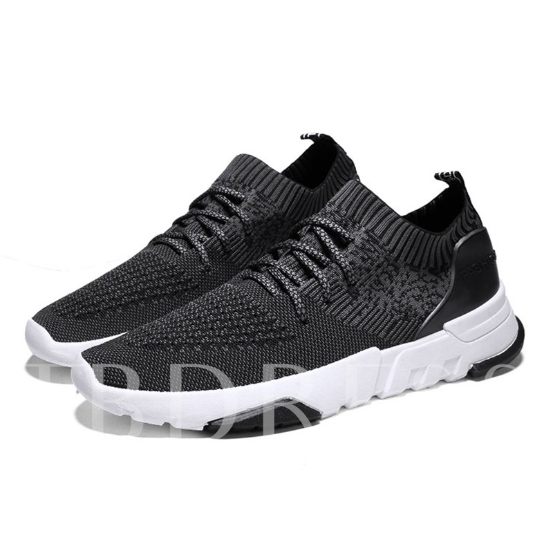 Buy Round Toe Mesh Lace-Up Casual Men's Sneaker, Spring,Summer,Fall, 13303187 for $32.43 in TBDress store