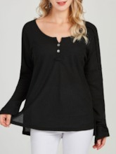 Plain Asymmetric Pullover Women's Sweater