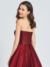 A-Line Sweetheart Ruched Prom Dress