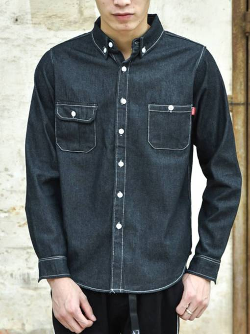 Japanese Style Tide Brand Denim Men's Shirt