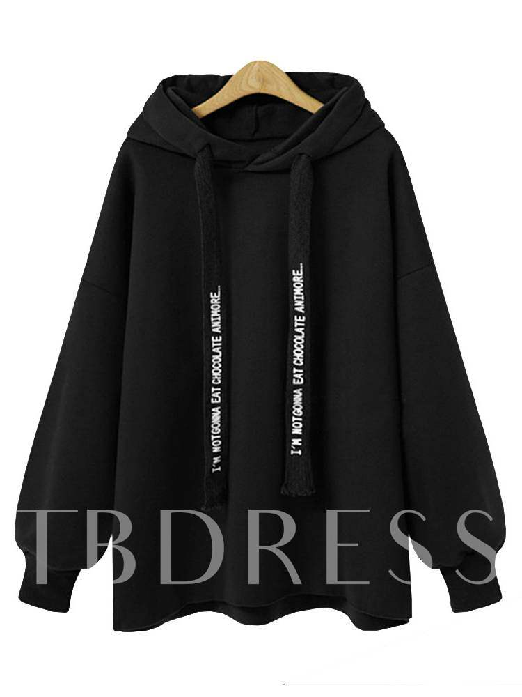Buy Plain Pure Color Hooded Letter Print Women's Sweatshirt, Spring,Fall, 13397893 for $17.21 in TBDress store
