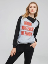 Sports Style Letter Print Long Raglan Sleeve Women's Sweatshirt