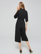 Casual V Neck Nine Sleeve Long Women's Jumpsuit