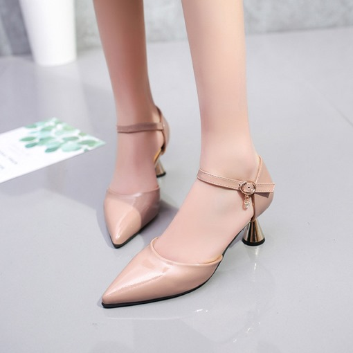 Buckle Pointed Toe Stiletto Heel Casual Plain Women's Pumps