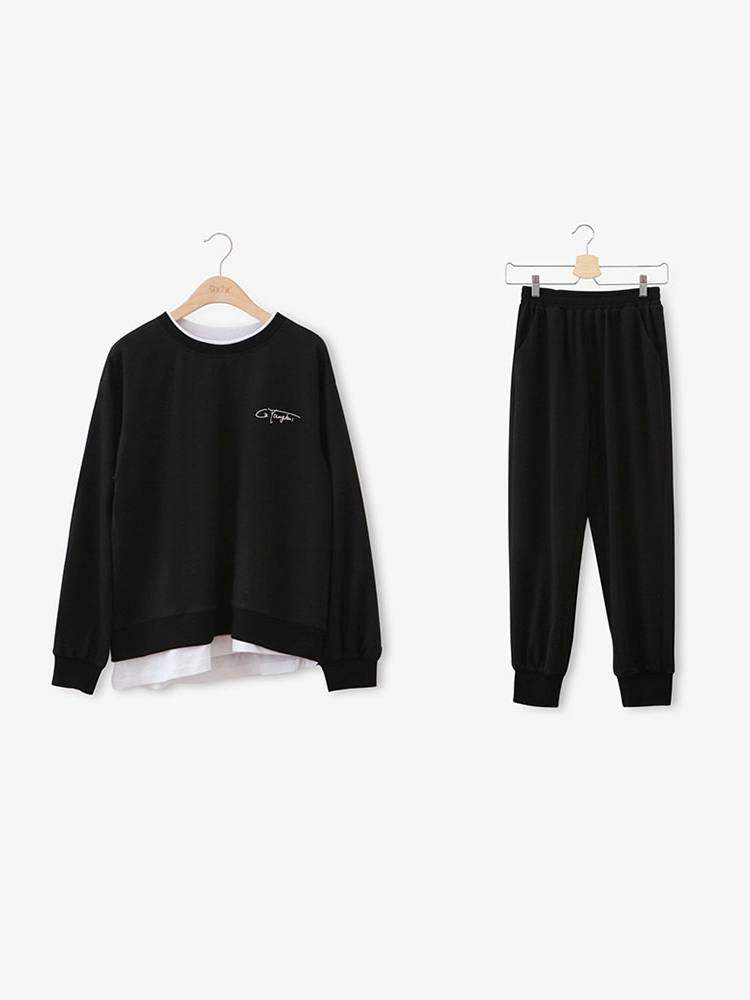 Buy Color Block Patchwork Long Sleeve Hoodie and Pants Women's Two Piece Set, Fall, 13399675 for $24.63 in TBDress store