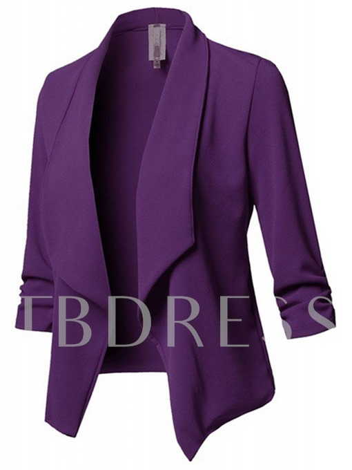 Slim Lapel Plain Women's Casual Blazer