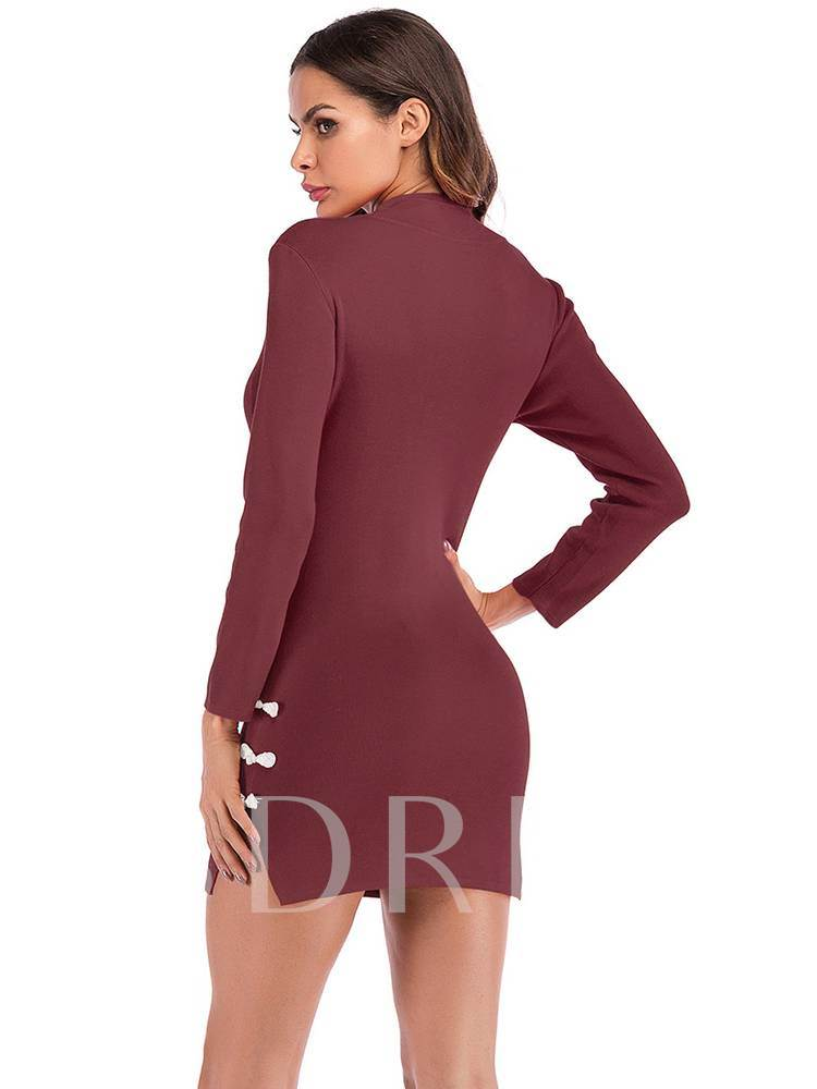 Long Sleeves Sexy Women's Bodycon Dress