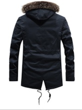 European Lace-Up Pockets Zipper Slim Men's Jacket