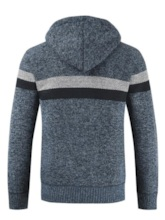 Slim Zipper Patchwork Men's Sweater