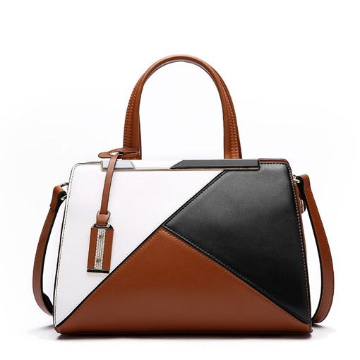 Fashion Patchwork Color Block Women Tote Bag