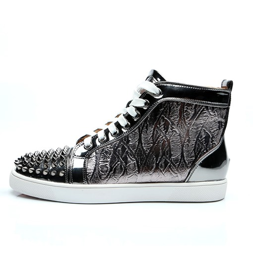 High Top Rivet Lace-Up Round Toe Stylish Men's Sneakers