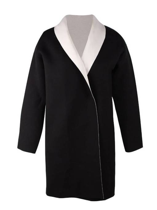 Lapel Candy Color Mid Length Women's Overcoat