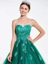 Sweetheart Sequins Lace Quinceanera Dress