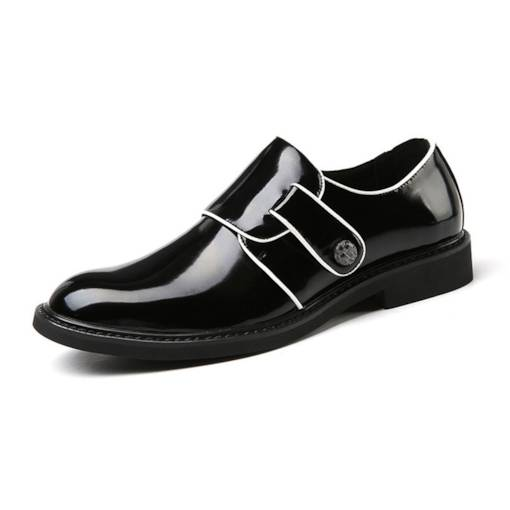 Round Toe Low-Cut Upper PU Unique Dressy Men's Oxford
