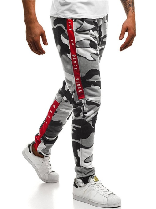 Casual Camouflage Print Slim Men's Pencil Pant