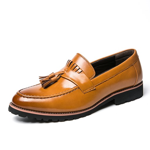 Round Toe Brush Off Slip-On Sewing Professional Men's Oxford