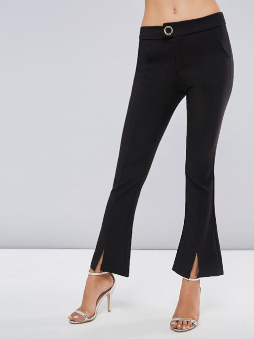 Front Split Skinny Women's Casual Pants