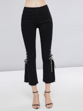 High Waist Split Bellbottom Lace-Up Women's Casual Pants