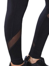 Solid Mesh Patchwork Women's Yoga Leggings