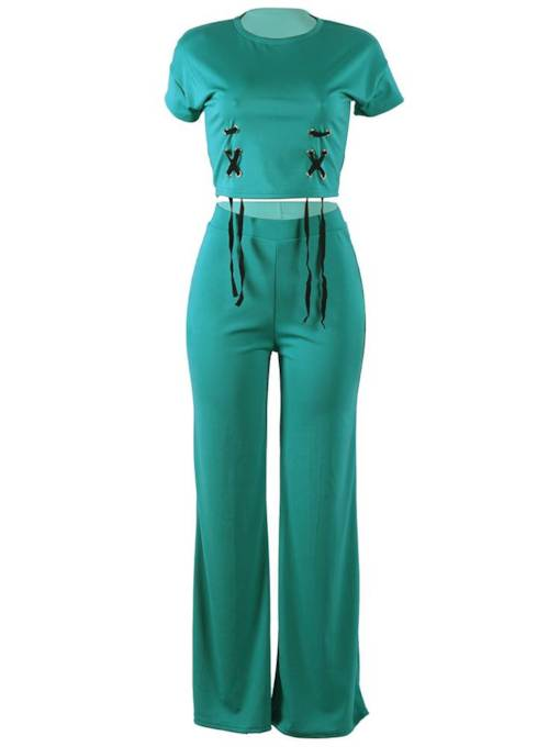 Short Sleeve T-Shirt and Pants Women's Two Piece Set