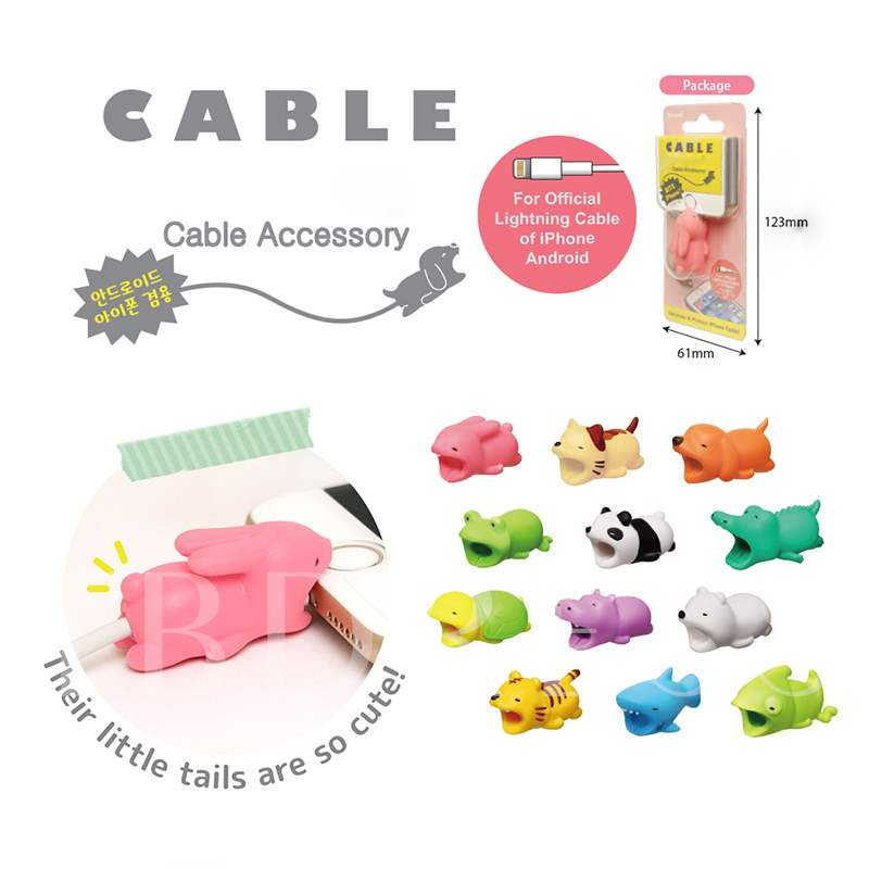Cable Bite Animal Data Line Protector for iPhone iPad Phone Accessary