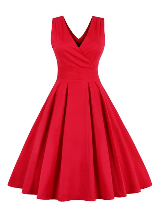 V Neck Bowknot A Line Cocktail Dress