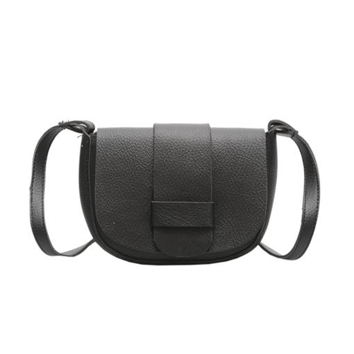 Modern Style Belt Decorated Shell Shaped Crossbody Bag