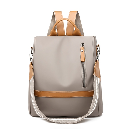 Fashion Nylon Color Block Women Backpack