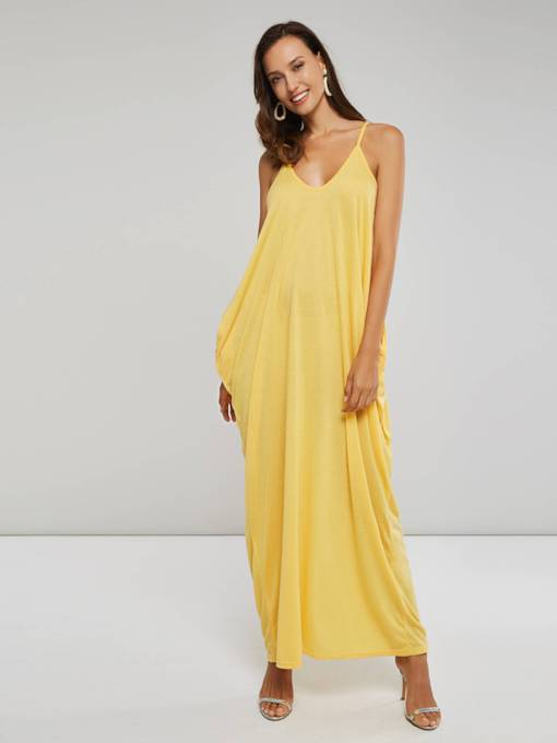 Bohemian Spaghetti Strap Backless Women's Maxi Dress