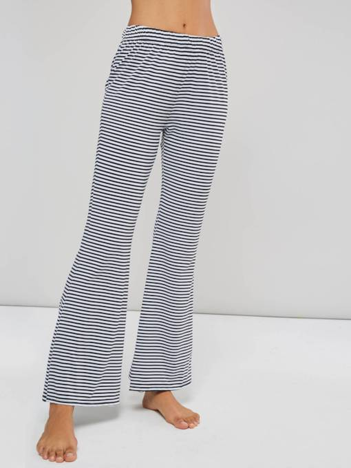 High Waist Striped Bellbottoms Casual Pants