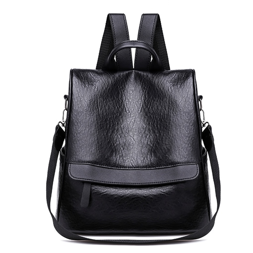 Plain Patchwork Zipper Women Medium Backpack