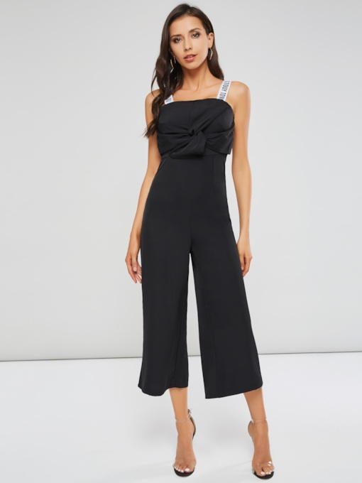 Strap Flower Backless Long Women's Jumpsuit