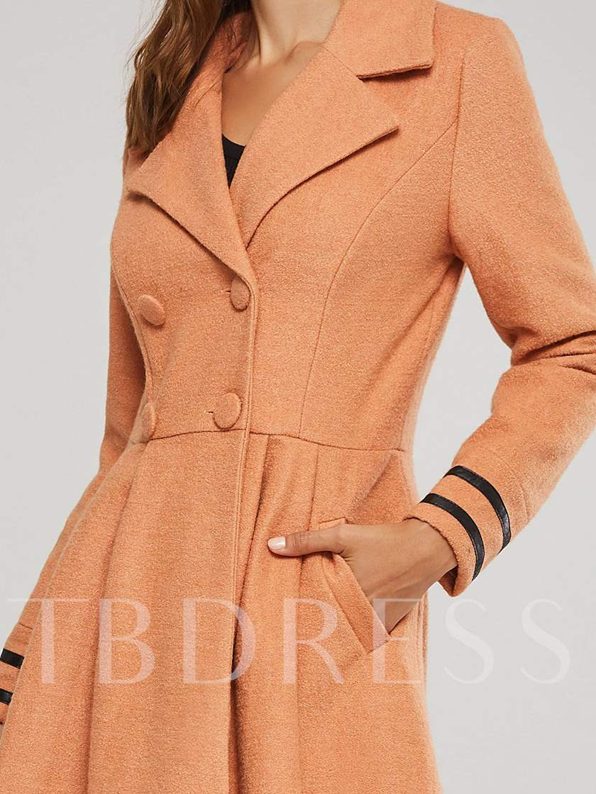 Double-Breasted Ribbon Women's Overcoat
