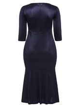 Dark Blue Bodycon Women's Maxi Dress
