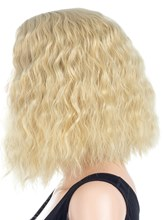 Mid-Length Kinky Curly Synthetic Hair Capless Wig