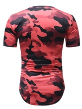 Camouflage Round Collar Thin Men's T-Shirt