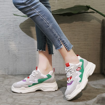 Color Block Lace Up Light Summer Women's Sneaker