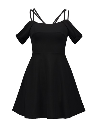 Black Strappy Women's Summer Dress