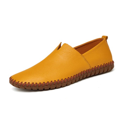 PU Sewing Round Toe Soft Men's Loafers