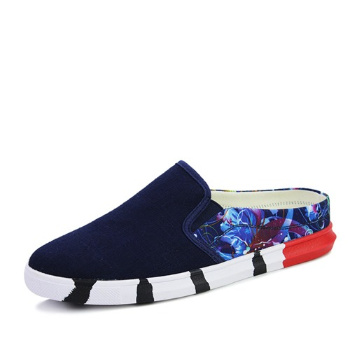 Canvas Prints Slip-On Casual Low-Cut Men's Loafers